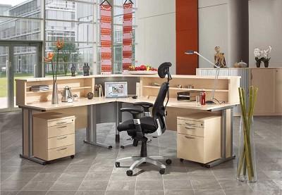 empfangstheke theke empfangstheken schreibtisch theken. Black Bedroom Furniture Sets. Home Design Ideas